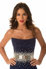 Miss Venezuela 2012, Irene Sofía Esser Quintero, poses in her evening gown at Planet Hollywood Resort and Casino, in Las Vegas, Nevada. She will spend the next few weeks touring, filming, rehearsing, and making new friends while she prepares to compete for the coveted Miss Universe Diamond Nexus Labs Crown. Tune in to the LIVE NBC Telecast from PH Live at 8:00 PM ET on December 19, 2012 to see who will win the title of MISS UNIVERSE® 2012.?HO/Miss Universe Organization L.P., LLLP--LIGHT RETOUCHING--