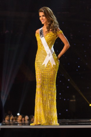 Iris Mittenaere, Miss France 2016 competes on stage in her evening gown during the 65th MISS UNIVERSE® Preliminary Competition at the Mall of Asia Arena on Thursday, January 26, 2017. The contestants have been touring, filming, rehearsing and preparing to compete for the Miss Universe crown in the Philippines. Tune in to the FOX telecast at 7:00 PM ET live/PT tape-delayed on Sunday, January 29, live from the Philippines to see who will become Miss Universe. HO/The Miss Universe Organization